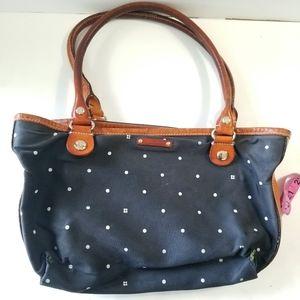 kate spade Bags - KATE SPADE Polka Dot Mini Leather Accented Bag
